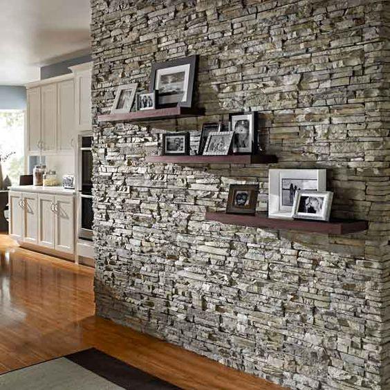 Revestimiento de piedra para interiores 19 decoracion - Revestimiento de piedra interior ...