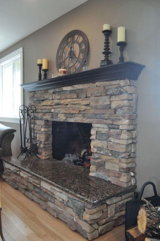 Revestimiento de piedra para interiores 20 decoracion - Revestimiento de piedra interior ...