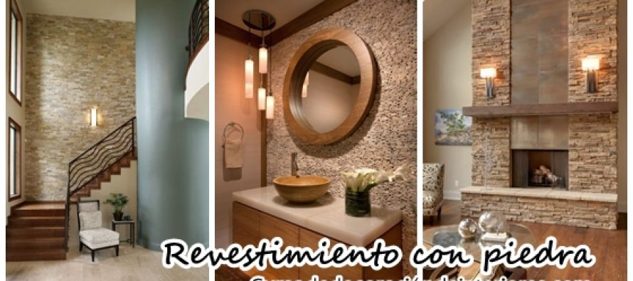 Revestimiento de piedra para interiores decoracion de for Piedras naturales para decoracion interiores