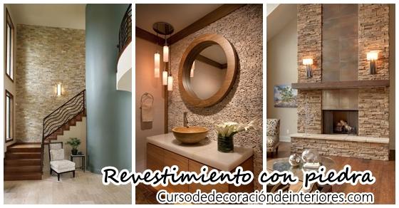 Revestimiento de piedra para interiores | Curso de Decoracion de ...