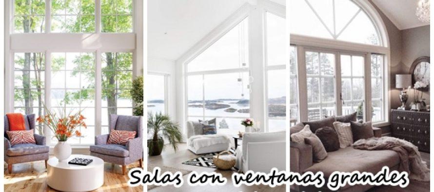 Salas de estar con ventanas grandes