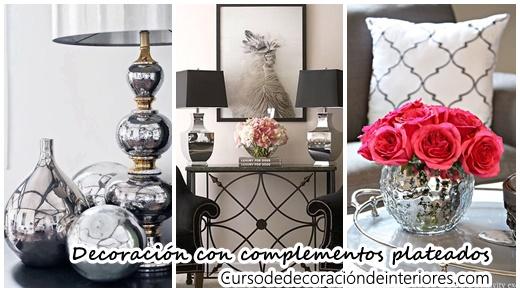 Decoraci n de interiores con complementos plateados for Complementos de decoracion