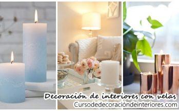 Decoración de interiores con velas