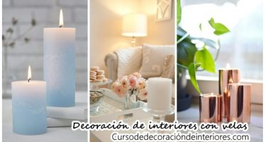 Decoración de interiores con velas