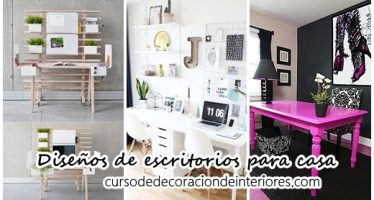 Diseños de escritorios para oficinas en casa
