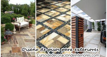 Diseños de pisos para exteriores en general