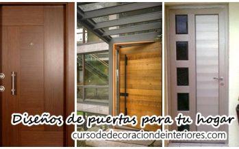 Diseños de puertas para decorar tu hogar