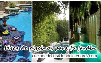 Ideas de piscinas que puedes construir en tu jardín