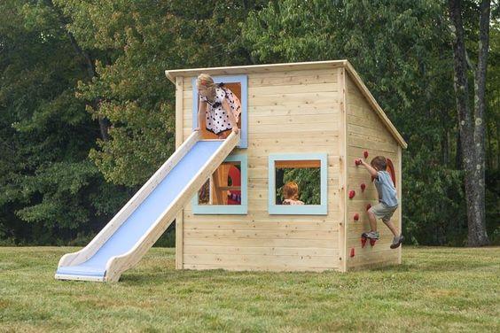 Ideas para construir casas de juegos de madera para ni os - Casas de madera para ninos ...