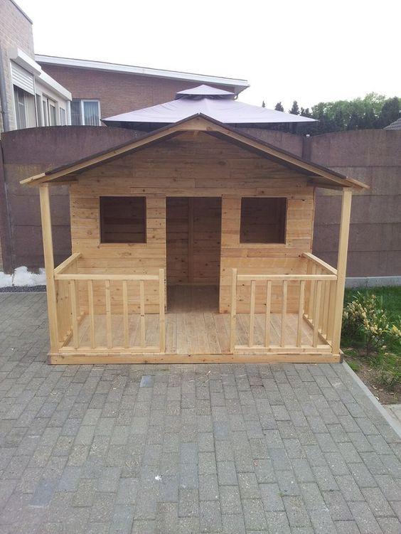 Ideas para construir casas de juegos de madera para ni os - Casas de madera balcan house ...