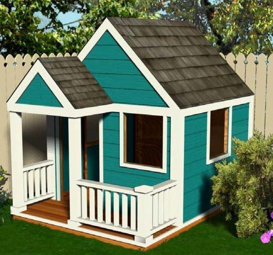 Ideas para construir casas de juegos de madera para niños (19 ...