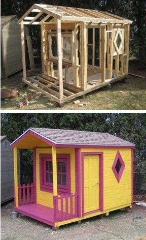Ideas Para Construir Casas De Juegos De Madera Para Ninos 25