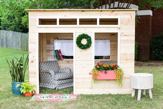 Ideas para construir casas de juegos de madera para ni os for Casas infantiles de madera para jardin segunda mano