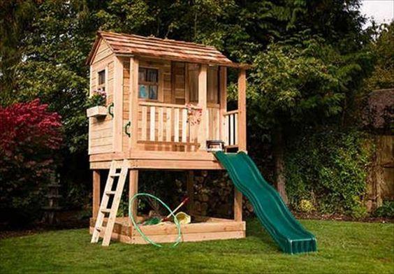 Ideas Para Construir Casas De Juegos De Madera Para Ni 241 Os