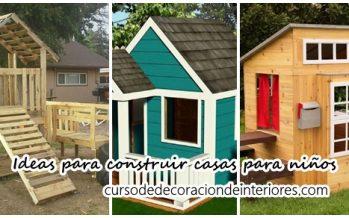 Ideas para construir casas de juegos de madera para niños