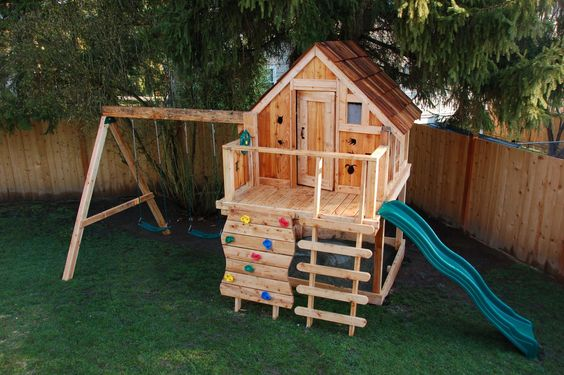 Ideas Para Construir Casas De Juegos De Madera Para Ninos 5