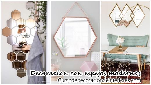 24 Ideas Para Decorar Con Espejos Modernos Curso De Decoracion De - Ideas-para-decorar-con-espejos