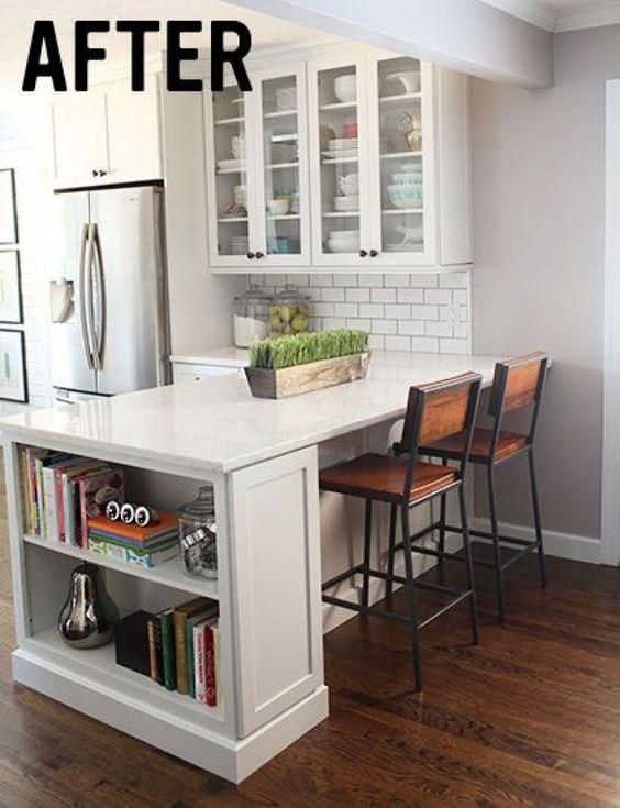 25 ideas de barras desayunadoras para que tu casa se vea for Barras para casa