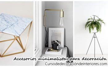 28 accesorios minimalistas para decoración de interiores