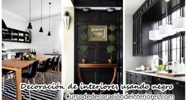 28 ideas de decoración de interiores usando color negro