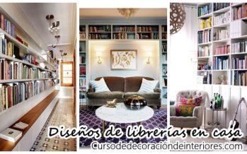 34 fabulosas librerías en casa que te encantarán