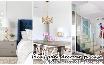35 Ideas para la decoración de tu hogar