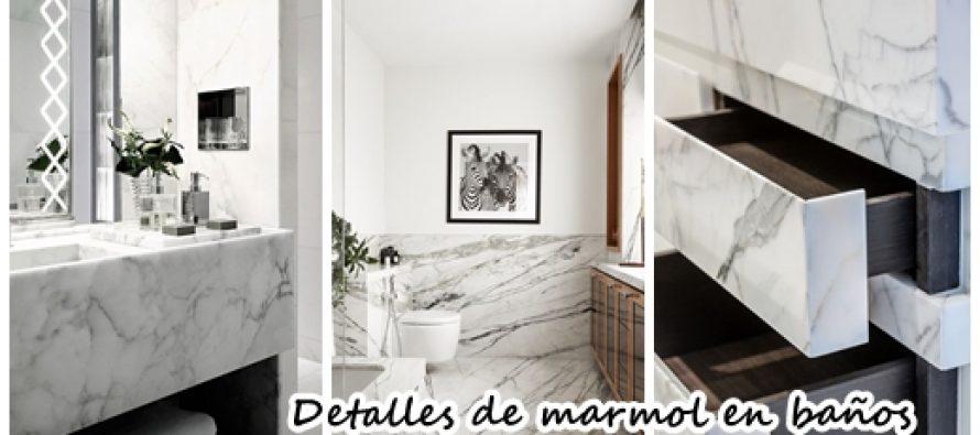 Detalles con marmol para decoración de baños
