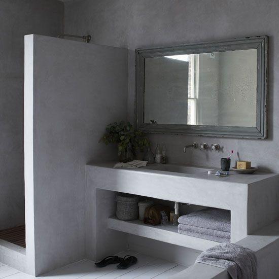 Banos revestidos con cemento pulido 1 curso de decoracion de interiores interiorismo - Banos cemento pulido ...