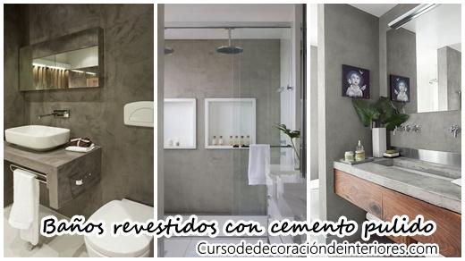 Ba os revestidos con cemento pulido curso de decoracion - Banos cemento pulido ...