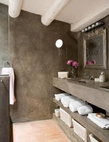 Banos revestidos con cemento pulido 5 curso de decoracion de interiores interiorismo - Banos cemento pulido ...
