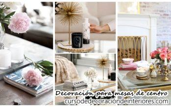 Complementos decorativos para mesas de centro