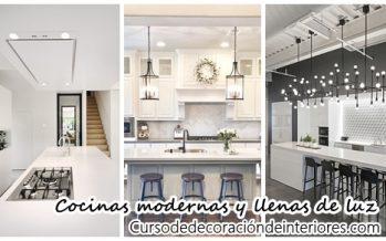 Diseños de cocinas modernas y llenas de luz ¡Te encantarán!
