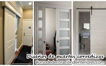 Diseños de puertas corredizas perfectas para casas pequeñas