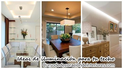 Ideas para iluminar el techo de tu casa decoracion de for Ideas de techos para casas