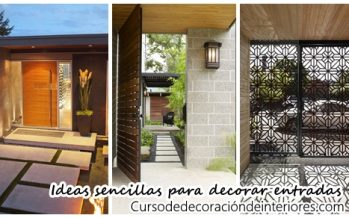 Ideas sencillas para decorar la entrada de tu casa