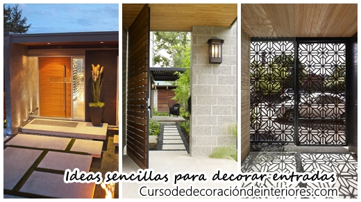 Ideas sencillas para decorar la entrada de tu casa curso de decoracion de interiores - Decorar la entrada de casa ...