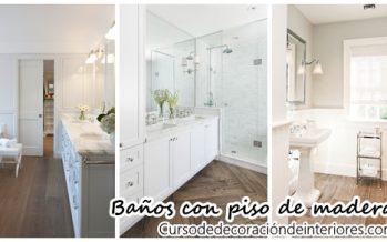 26 Diseños de baños con pisos de madera