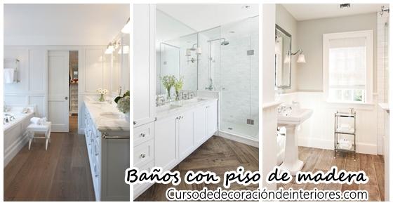 26 dise os de ba os con pisos de madera decoracion de for Disenos de pisos para banos