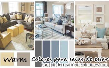 28 Combinaciones de color para una sala moderna y con estilo