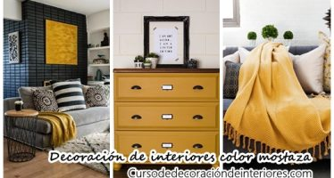32 ideas para decoración de interiores color mostaza