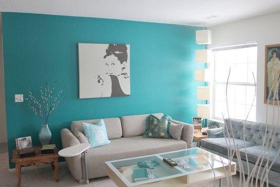 33 decoraciones para salas de estar en color azul turquesa 9 curso de decoracion de - Decoracion cuarto de estar ...