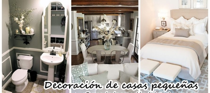 33 ideas para decorar casas peque as decoracion de - Ideas casas pequenas ...
