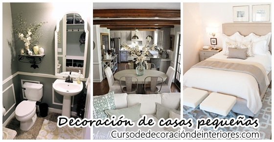 33 ideas para decorar casas peque as curso de decoracion - Decoracion interiores casas pequenas ...