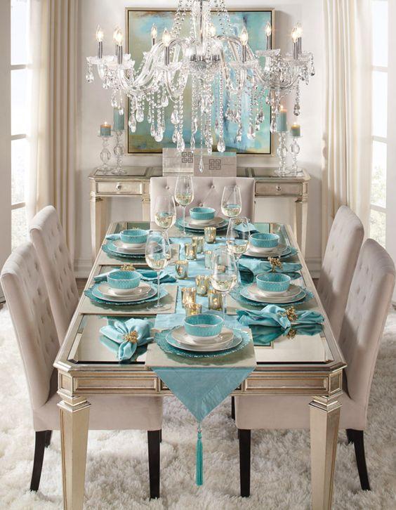 34 Comedores Decorados Con Azul Turquesa 23 Curso De Decoracion - Comedores-decorados