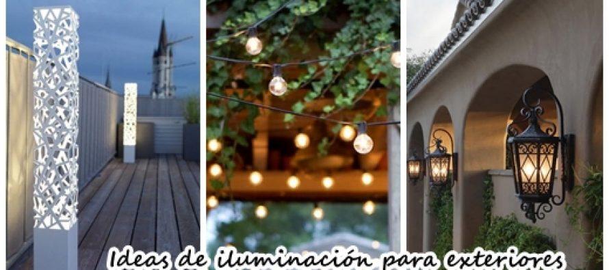 34 ideas de iluminaci n exterior para tu casa decoracion - Casa de iluminacion ...