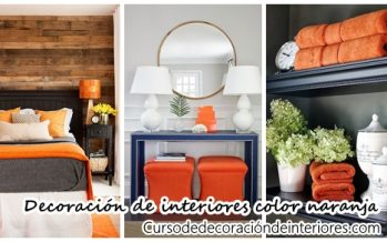 34 Ideas para decorar interiores con color naranja