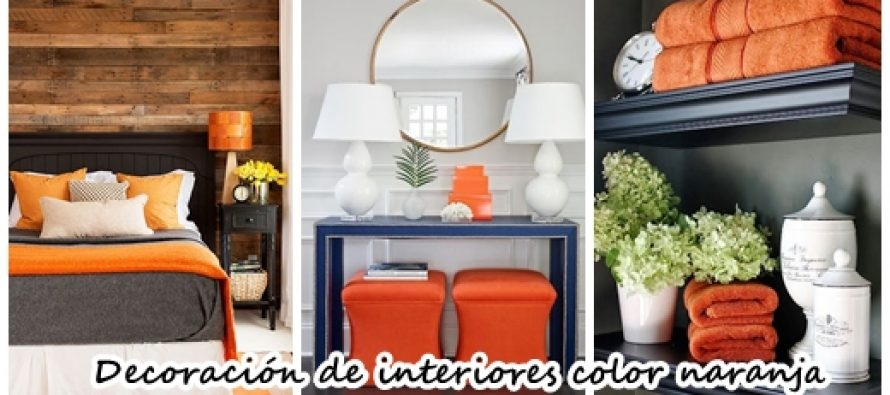34 ideas para decorar interiores con color naranja for Decoracion con color naranja
