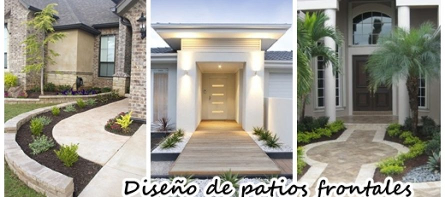 35 ideas de decoraci n de patios frontales decoracion de for Arreglos de patios de casas