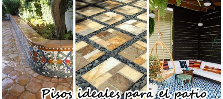 37 dise os de pisos para decorar tu patio decoracion de for Pisos de patio