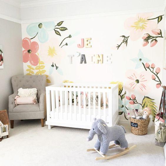 ideas super tiernas para decorar una habitacin para bebe nia